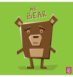Angle bear vector image