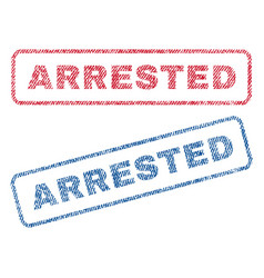 Arrested textile stamps vector