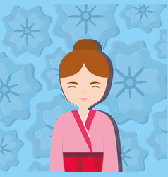 asian woman icon vector image