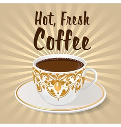 background with a fresh Cup vector image