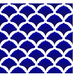 Blue and white thai pattern vector