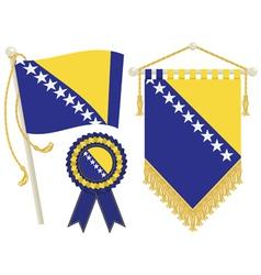 bosnia and herzegovina flags vector image