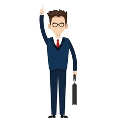 businessman with hand up icon vector image vector image