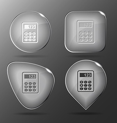 Calculator Glass buttons vector