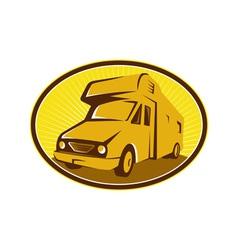 Camper Van Mobile Home Retro vector image