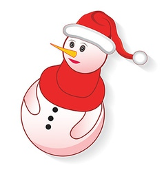 christmas snowman icon vector image