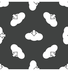 Cloud download pattern vector image