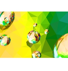 Colorful drops abstract shape vector image
