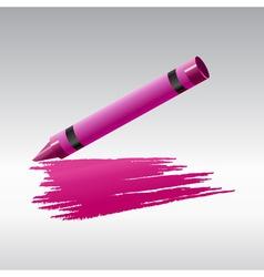 crayon drawing vector image