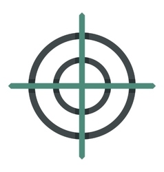 Crosshair icon flat style vector