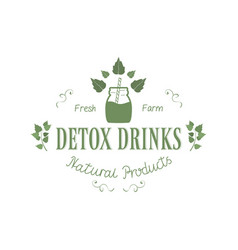 detox fresh farm drinks natural vector image