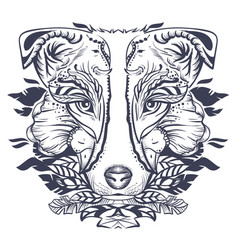 dog head abstract vector image