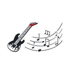 electric guitar music instrument in rock style vector image