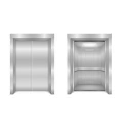 elevator modern office metal lift stock vector image
