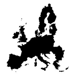 eu map vector image