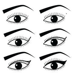 Eye make up technique with use of Eyeliner 2 vector image