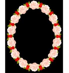 Floral wreathe vector