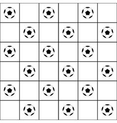 Football ball black grid white background vector