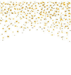 gold stars falling confetti isolated on white vector image