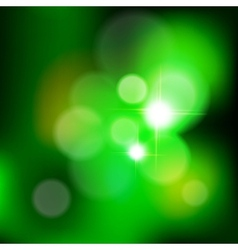 Green bokeh from tree vector
