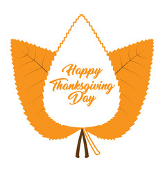 group of autumn leaves thanksgiving day vector image
