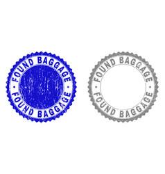 Grunge found baggage textured watermarks vector