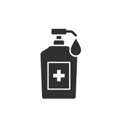 Hand sanitizer liquid soap icon vector