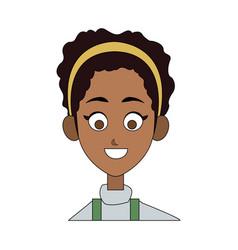 happy pretty woman icon image vector image