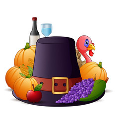 happy thanksgiving cartoon vector image