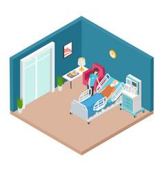 hospital ward resuscitation interior vector image