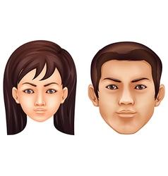 Human face vector