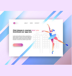 Internet web app landing page for online website vector