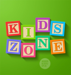 Kids Zone vector image