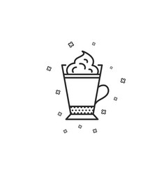 Latte coffee icon whipped cream sign vector