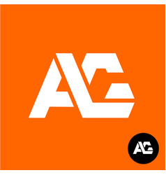 letters a and g ligature logo two ag sign vector image