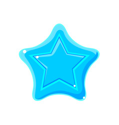 light blue cartoon glossy star vector image