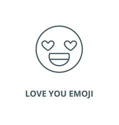 Love you emoji line icon linear concept vector