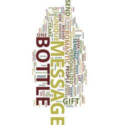 Message in a bottle text background word cloud vector