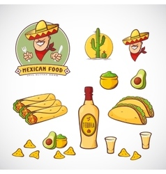 Mexican Food Set with Logo vector