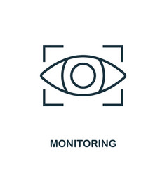 Monitoring icon outline style thin line creative vector