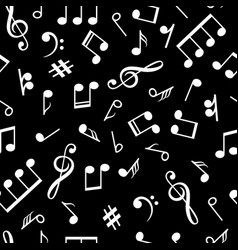 music notes black pattern musical note signs old vector image