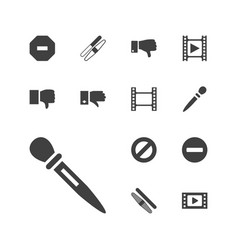 Negative icons vector