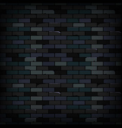 Old dark brick wall texture background vector