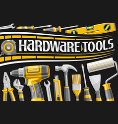 Poster for hardware tools vector