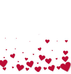 Red heart love confettis valentines day gradient vector
