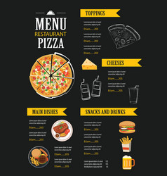 Restaurant cafe menu template flat design vector