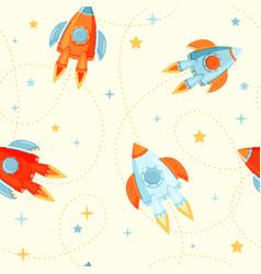 rocket ships seamless vector image