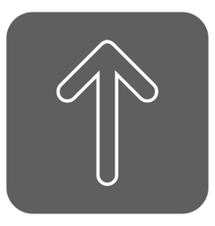 Rounded Arrow Up Flat Squared Icon vector