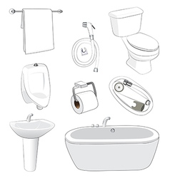 sanitary ware bathroom vector image