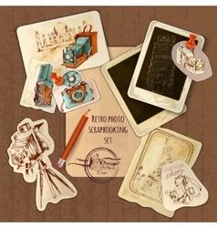 Scrapbooking vintage set vector